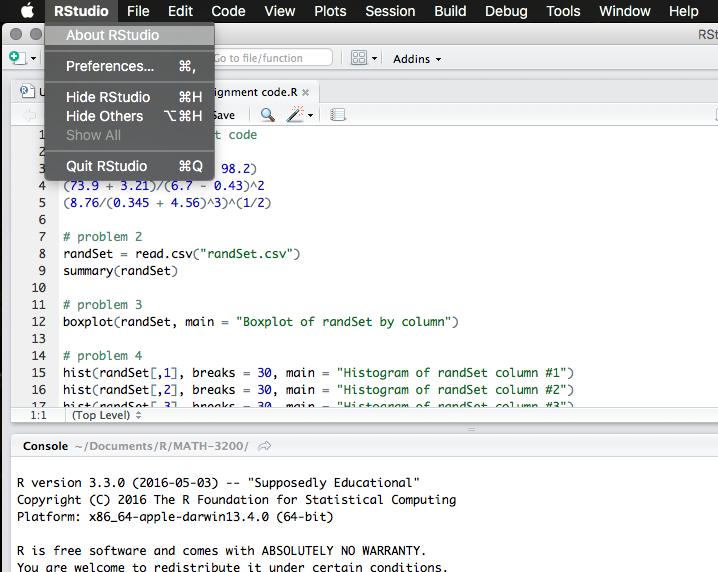 Updating R and RStudio